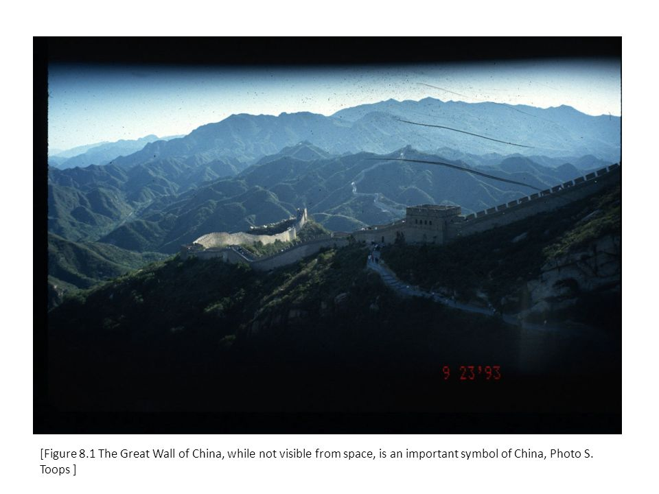[Figure 8.1 The Great Wall of China, while not visible from space, is an important symbol of China, Photo S.